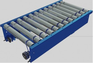 Lineshaft driven powered roller conveyor 015
