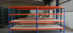 Modular steel shelving 061